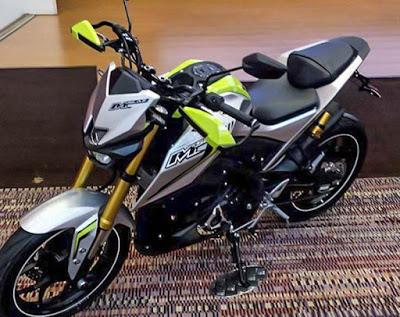 Yamaha-M-Slaz-silver-green-front-quarter-Thailand